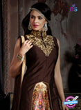 AZ 3606 Brown Japan Satin Indo Western Suit - Indo Western - NEW SHOP