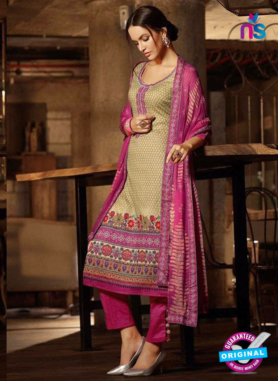 Omtex 1183 Purple and Beige Lawn Cotton Suit
