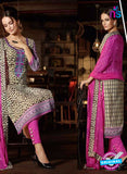 Omtex 1186 Pink and White Lawn Cotton Suit