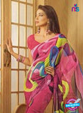 NS11875 Pink and Multicolor Georgette Saree