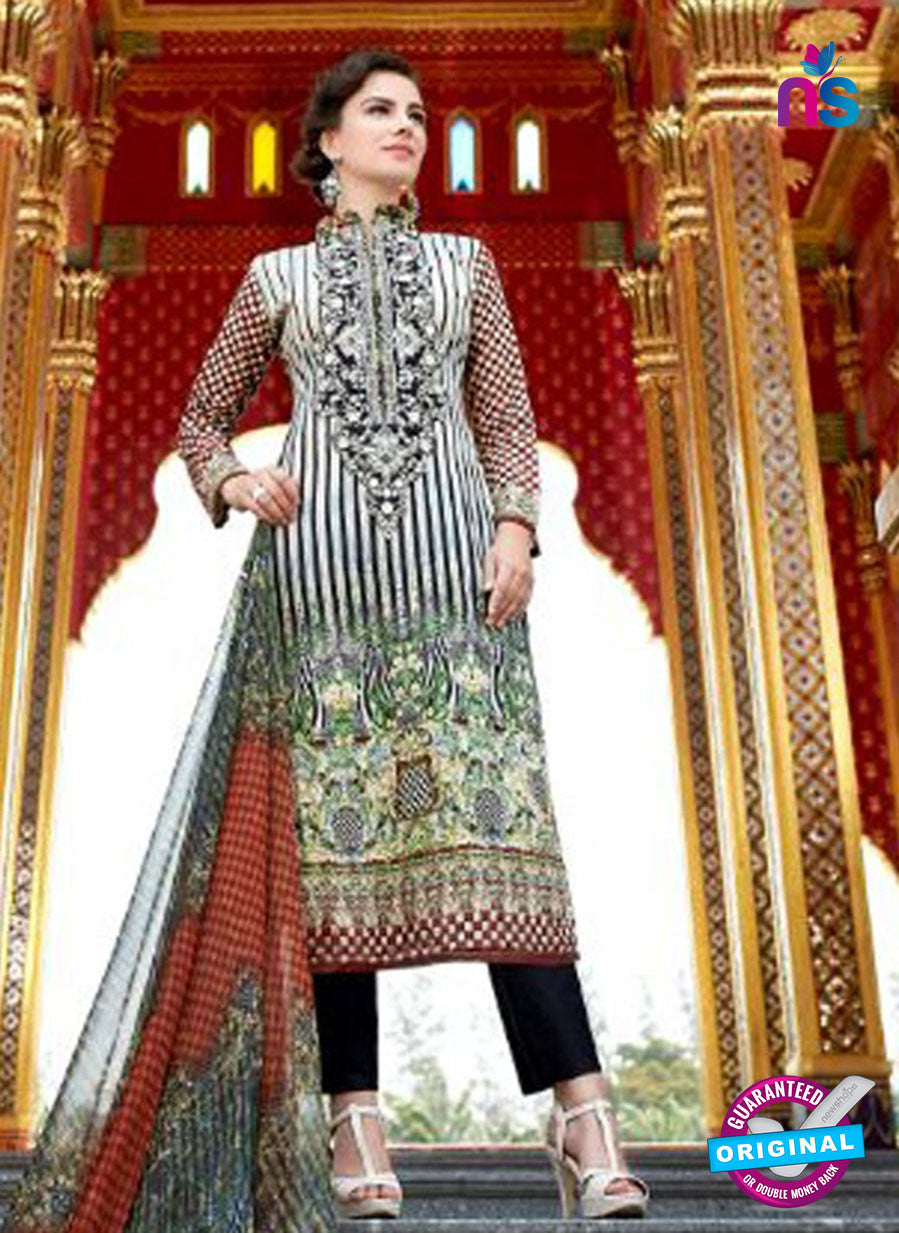 SC 12546 Black and Multicolor Digital Printed Lawn Cotton with Embroidered Party Wear Pakistani Suit