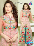SC 12974 Pink and Blue Heavy Chanderi Party Wear Designer Suit