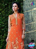 NS12250 Orange and Golden Plazo Suit