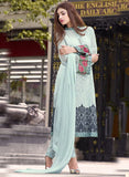 TM 11  Blue Color Georgette Designer Suit