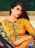 SC 13631 Yellow and Black Embroidered Lawn Pakistani Suit