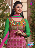 NS12110 Pink and Green Straight Suit Online