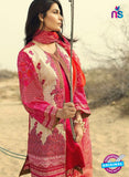 SC 13039 Pink and Beige Embroidered Pure Cambric Cotton Pakistani Suit