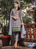 NS11133 Grey Party Wear Faux Georgette Pakistani Suit