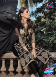 NS11134 Black Party Wear Faux Georgette Pakistani Suit Online