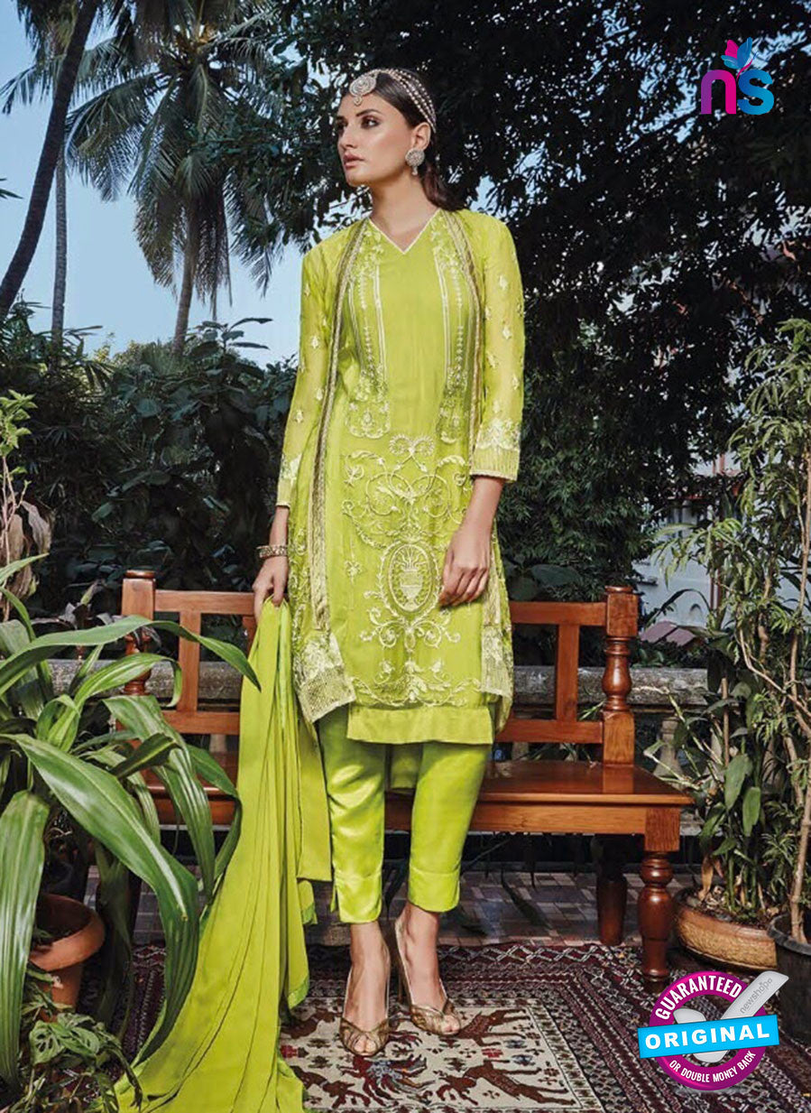 NS11135 Green Yellow Party Wear Faux Georgette Pakistani Suit
