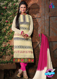 NS12113 Beige and Pink Straight Suit