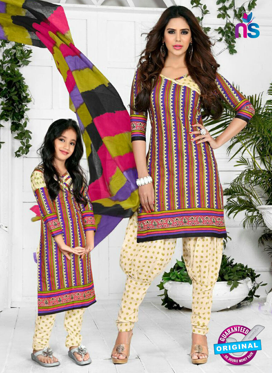 NS10578 Beige and Multicolor Casual Cotton Print Suit