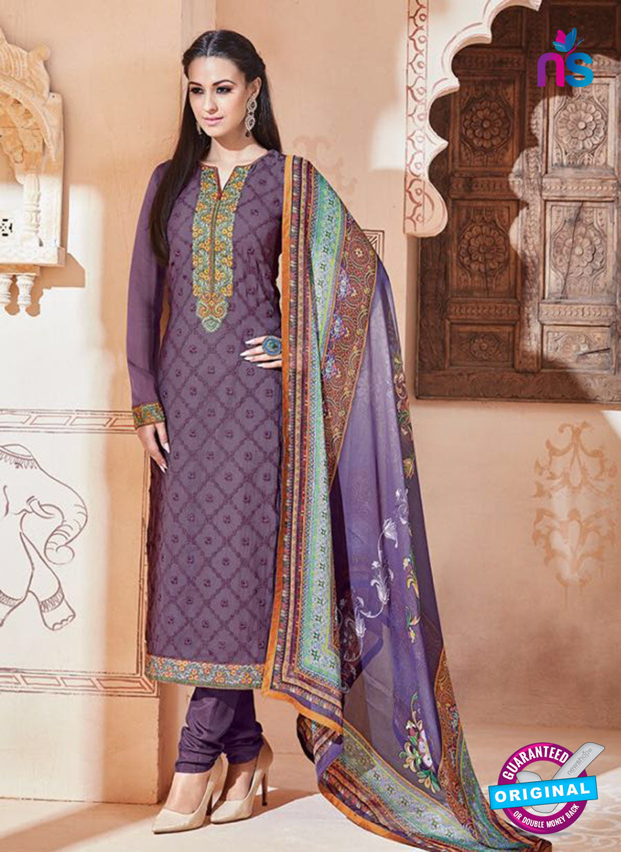 SC 13269 Purple Embroidered Georgette Party Wear Designer Suit