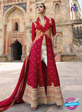 AZ 1039 Georgette Embroidery Red and Pink Suit