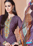 SC 13269 Purple Embroidered Georgette Party Wear Designer Suit Online