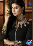 AZ 3365 Black and Beige Embroidered Semi Georgette Party Wear Suit Online