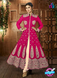AZ 3371 Magenta and Beige Embroidered Semi Georgette Party Wear Suit