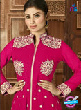 AZ 3371 Magenta and Beige Embroidered Semi Georgette Party Wear Suit Online