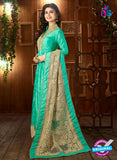 AZ 3510 Sea Green Tafetta Silk Pakistani Suit
