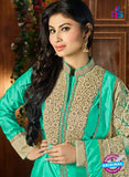 AZ 3510 Sea Green Tafetta Silk Pakistani Suit Online