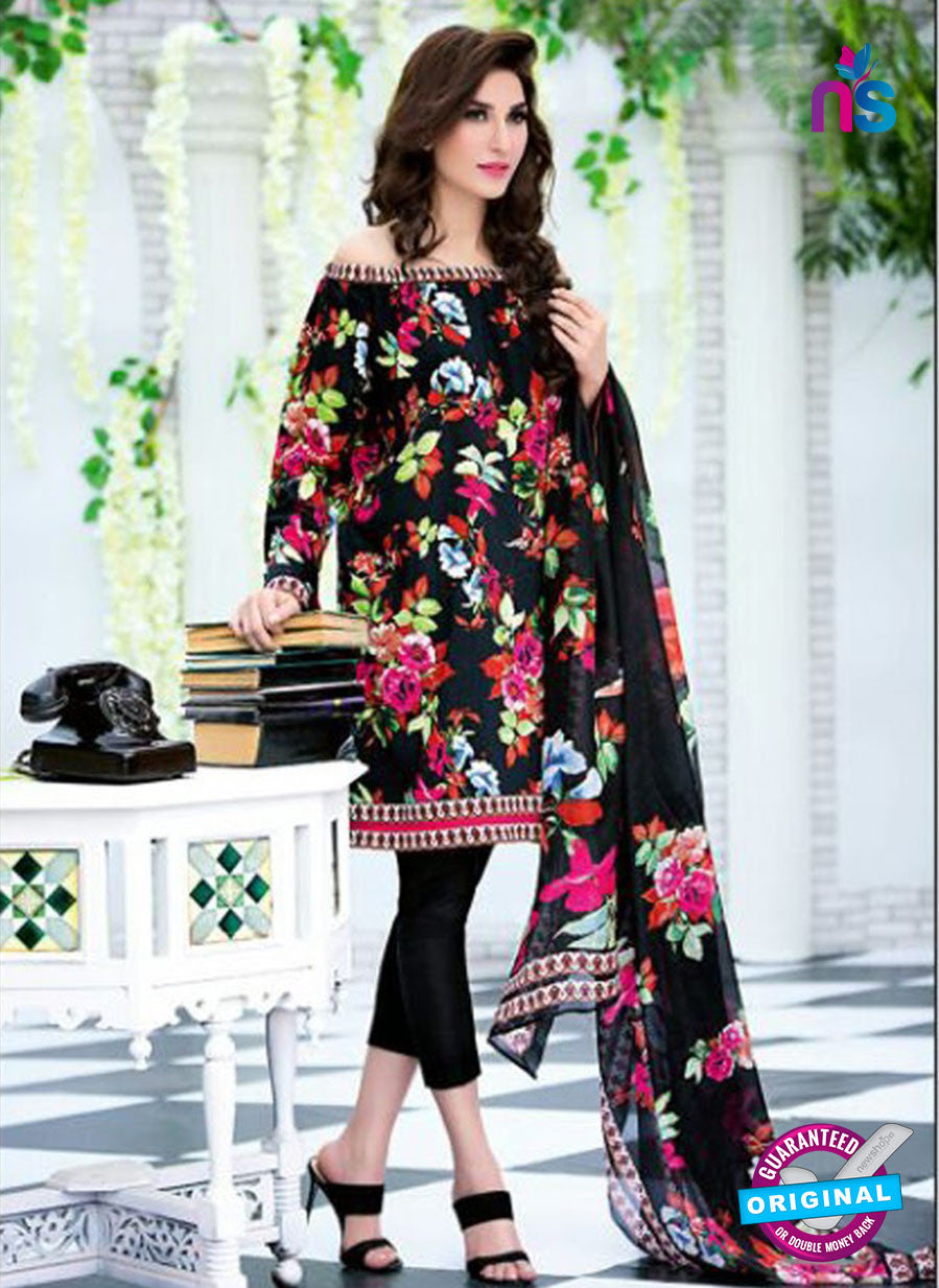 SC 12731 Multicolor and Black Printed Cambric Cotton Designer Suit