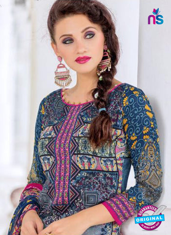 SC 14014 Blue and Pink Exclusive Fancy Functional Wear Straight Plazo Suit Online