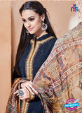 SC 13265 Dark Blue Embroidered Georgette Party Wear Designer Suit Online