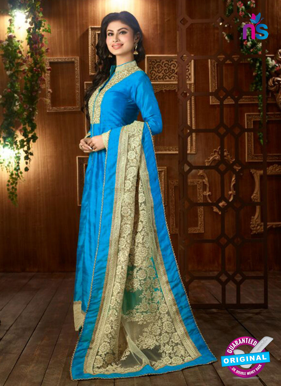 AZ 3512 Sky Blue Tafetta Silk Pakistani Suit