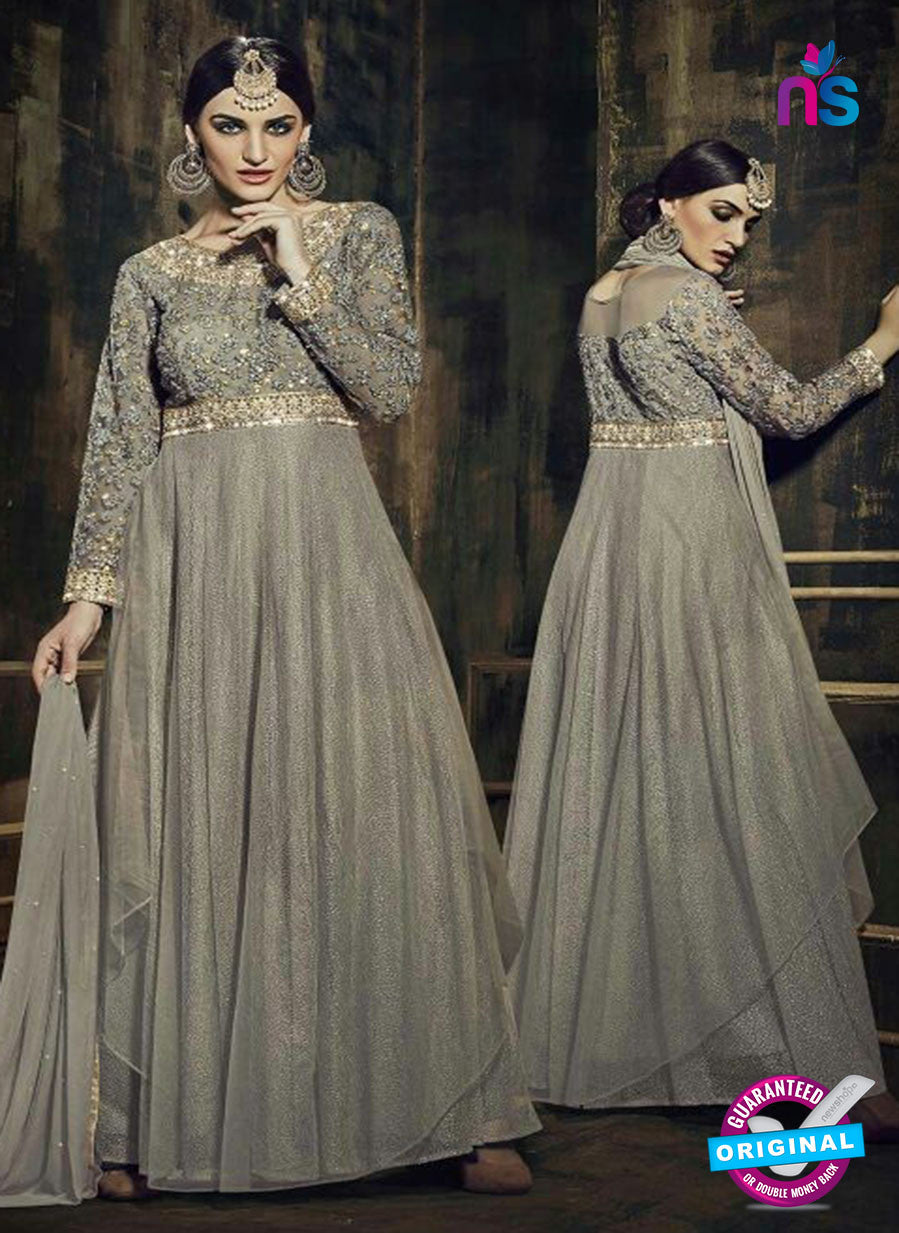 Fiona 12033 Grey Georgette Fancy Designer Gown