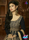 AZ 3865 Black Semi Georgette Anarkali Suit