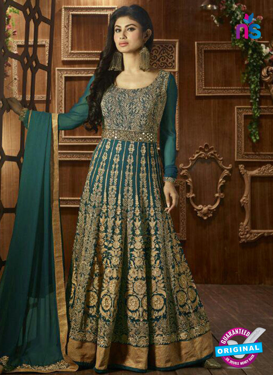 AZ 3866 Sea Green Semi Georgette Anarkali Suit