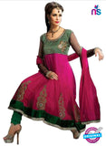 NS12055 Magenta and Green Anarkali Suit