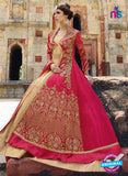 Glossy 1203 Georgette Embroidery Pink and Beige Suit
