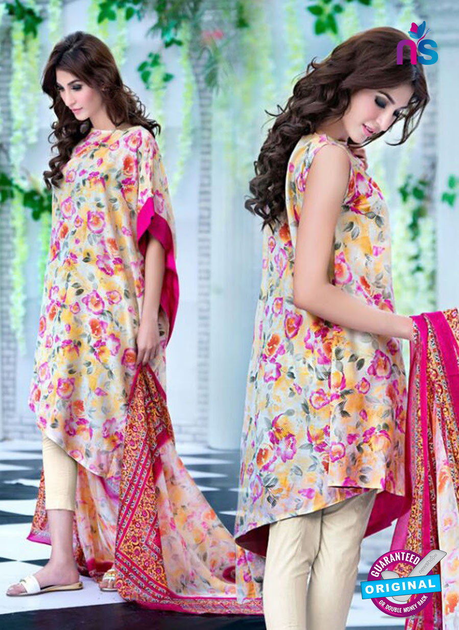 SC 12734 Multicolor and White Printed Cambric Cotton Designer Suit