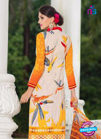 SC 14022 White and Yellow Exclusive Fancy Functional Wear Straight Suit Online