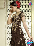SC 13314 Brown and Beige Banglori Silk Designer Suit Online