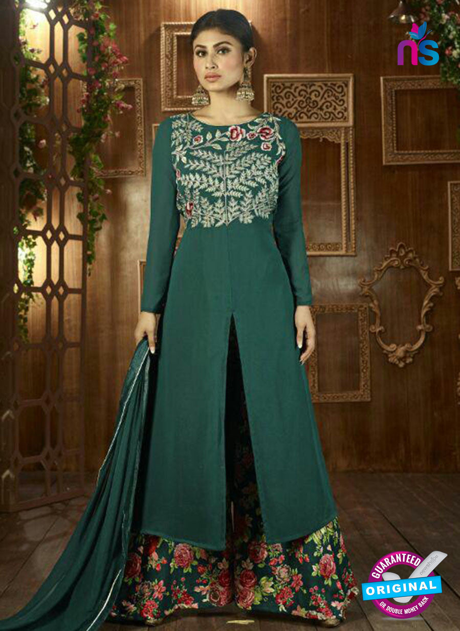 Arihant 12043 Sea Green Semi Georgette Indo Western Suit