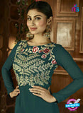 Arihant 12043 Sea Green Semi Georgette Indo Western Suit Online