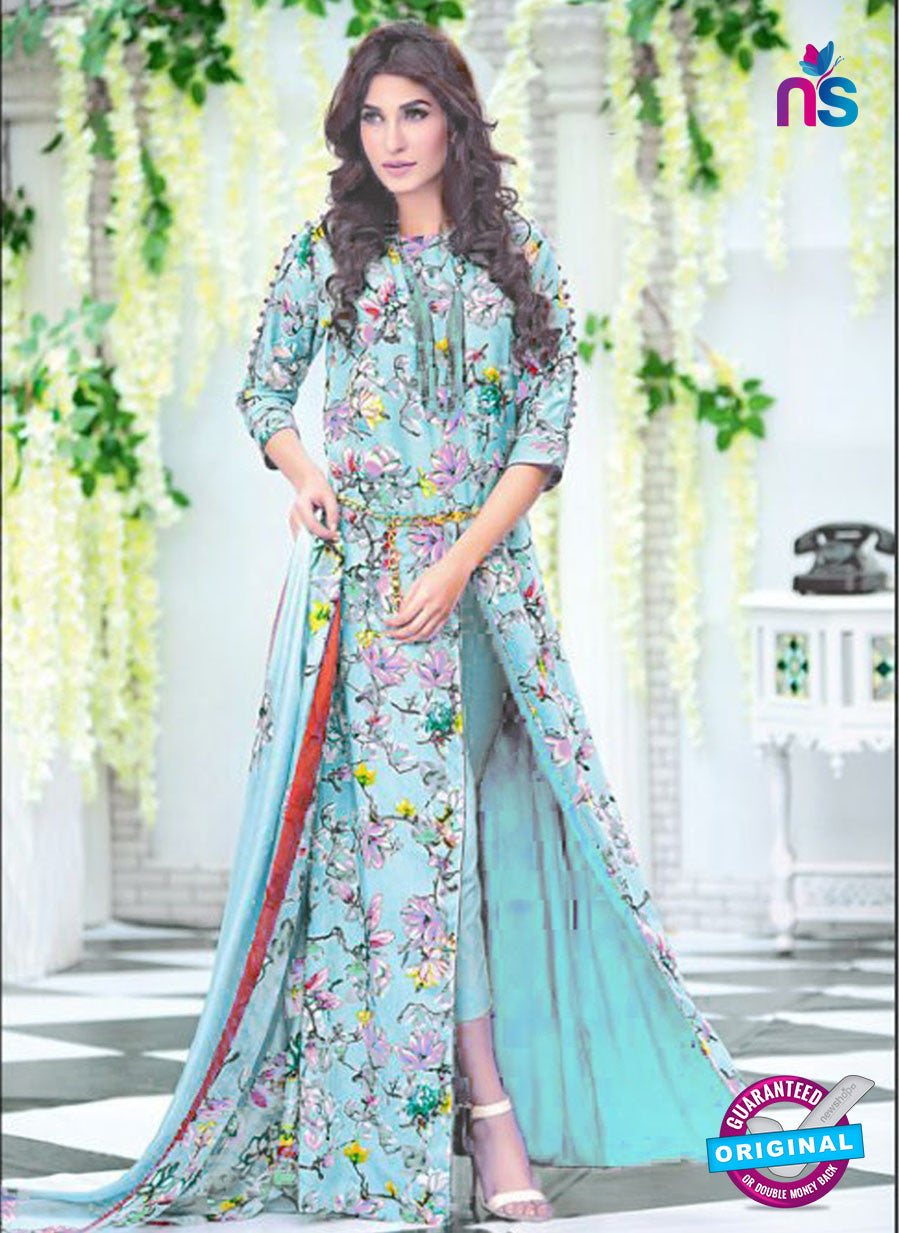 SC 12730 Multicolor and Blue Printed Cambric Cotton Designer Suit