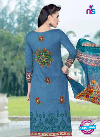SC 14015 Blue and Yellow Exclusive Fancy Functional Wear Straight Plazo Suit Online