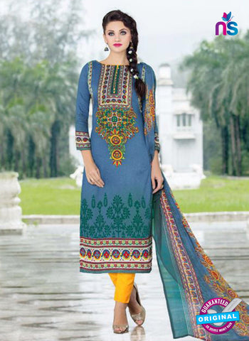 SC 14015 Blue and Yellow Exclusive Fancy Functional Wear Straight Plazo Suit