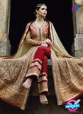 AZ 1043 Georgette Embroidery Beige and Red Suit - Salwar Suits - NEW SHOP