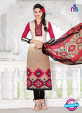 SC 14019 Beige and Black Exclusive Fancy Functional Wear Straight Plazo Suit