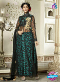 SC 13318 Black and Blue Net Party Wear Lehenga
