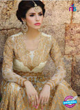 AZ 1044 Georgette Embroidery Beige and White Anarkali Suit - Anarkali Suits - NEW SHOP