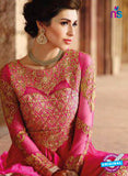 Buy Glossy 1207 Georgette Embroidery Pink Suit Online