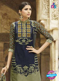 Omtex 1207 A Blue and Mehandi Green Lawn Cotton Plazzo Suit