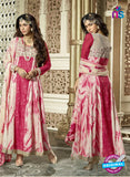 NS11093 Pink and Golden Banglory Silk with Heavy Net Party Wear Designer Suit
