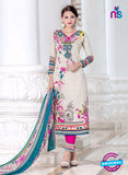 SC 14021 White and Pink Exclusive Fancy Functional Wear Straight Plazo Suit