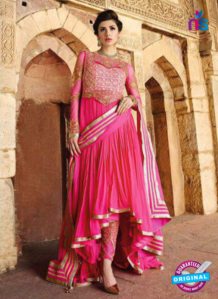 Glossy 1207 Georgette Embroidery Pink Suit